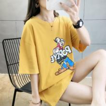 贵阳便宜服装批发夏季新款女式T恤纯棉短袖圆领T恤批发