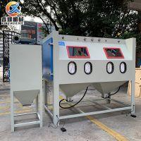 喷砂机生产厂家 非标定做双工位手动喷砂机