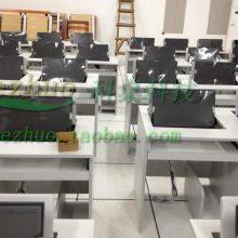 翻转电脑桌双人培训 学校电教室电脑桌 会计中心培训电脑桌
