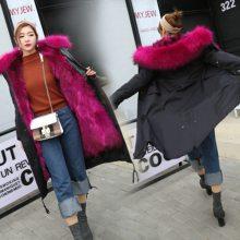 女装时尚气质冬新款派克服貉子毛领气质时尚女装免费加盟代理