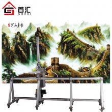 首汇3D智能大型喷墨5d墙体彩绘机户内户外墙体广告背景墙打印设备