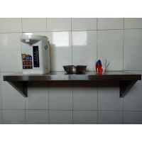 定做单层壁挂墙架可挂墙壁架吊架子不锈钢置物架微波炉架厨房隔板