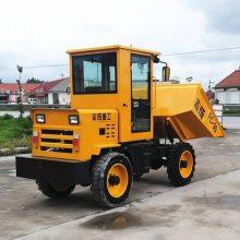 工程混泥土运料车 使用方便液压自卸翻斗车 柴油四驱建筑运料车