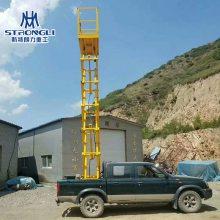 车载剪叉式升降机 皮卡车监控安装云梯 移动式升降机