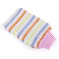 皆净澡巾 厂家批发包邮彩条纹细砂粒吸水纤维通用搓澡巾沐浴手套