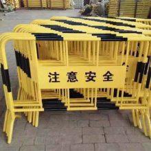厂家直供铁马护栏 不锈钢黄黑铁马施工铁马围栏移动隔离铁马护