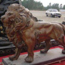 江苏1米铜狮子-恒天铜雕