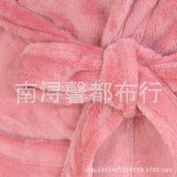 现货供应加厚法兰绒面料秋冬睡袍面料 毛毯玩具面料 法兰绒棉布料