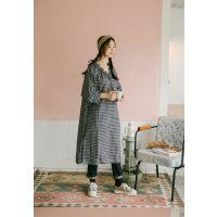迪丝雅上海折扣品牌女装批发市场女装 广州服装品牌折扣尾货藏蓝色棉衣
