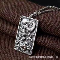 来图来样珠宝首饰加工代工厂黄铜镀银复古项链护身符吊坠首饰