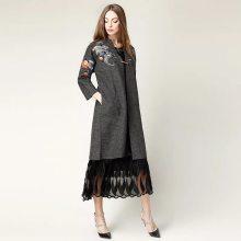 中国风秋冬女装货源 大码女装 连衣裙 品牌折扣女装批发