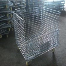 铁框铁笼子 宁夏仓储笼厂 仓库堆垛网格笼