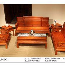 温馨玲珑缅甸花梨明式沙发老百姓款式