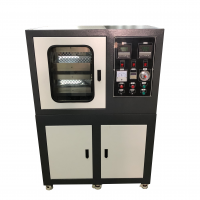 ZS-406B-50-300 双层冷却平板硫化机 全自动橡胶四柱热压加硫成型机 PLC控制小型压片机
