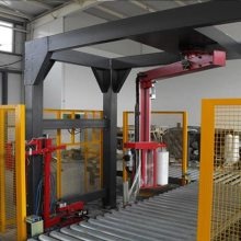 大宏LR1800FZ摇臂缠绕机采用在线式设备 摇臂在线缠绕机其包装成本低 效率高