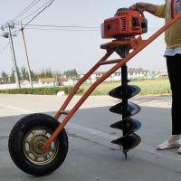 亚博国际真实吗机械 专业定制小型手推式挖坑机 多功能植树挖坑机 柴油汽油挖坑机价格