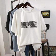 北方地摊展销会服装批发 5.5元女装短袖T恤哪里有夜市甩卖便宜纯棉半截袖批发