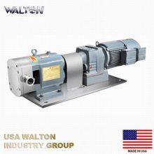 进口食品级高粘度泵 电动不锈钢凸轮转子泵 番茄酱泵 高粘度卫生级转子泵 美国WALTON沃尔顿