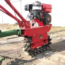 新型柴油双履带式微耕机 汽油170型6马力犁地机 小块地硬地苗圃荔枝园除草机