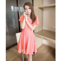 广西哪里有好看又便宜的连衣裙批发 春夏季韩版女装连衣裙 雪纺中长裙批发