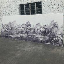 山水画图案冲孔铝单板幕墙艺术冲孔铝单板厂家