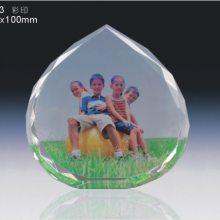照片影像水晶吊坠礼品定做,情侣水晶纪念品定制,一个起定