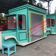 南京商业街售货车,山东古城仿古售货亭,易拉罐造型贩卖花车