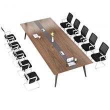 办公会议桌长桌简约现代洽谈桌椅组合会议室长条桌大型会议桌6人