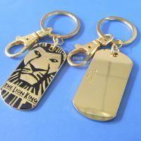 厂家定制狗牌钥匙扣 男士吊牌 狮子动物钥匙扣挂件
