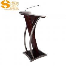 专业生产SITTY斯迪95.9023EKV-1流线型木质演讲台/咨客台