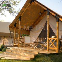 工厂直供野奢酒店帐篷房屋 木结构特色帐篷酒店 特色帐篷营地规划设计生产安装