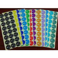 12种颜色月份贴纸 不干胶贴纸 数字月份标签印刷 彩色圆形标签定做