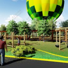 户外儿童公园设计 无动力游乐设施 非标定制木质拓展滑梯 不锈钢滑梯 北京同兴伟业直销