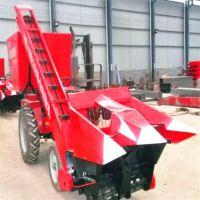 四轮车带动玉米收获机 两行棒子收获机 拖拉机带动玉米收割机