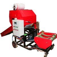 牛羊饲料青贮打包机 牧草稻草压块打包机 干湿秸秆打捆包膜机