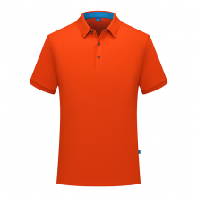贵州短袖POLO衫定做,广告衫批发,ZHIT-6882A男款200克32支陶瓷桑蚕丝三扣翻领短袖T恤