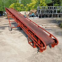 空心砖装车皮带输送机 农用通用型装车输送机 移动式高低可调皮带机