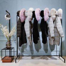 朗笛曼冬装 女装领子款式 专柜品牌折扣一手 大码女服装街头天鹅绒羽绒裤