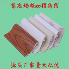 厂家直销竹木纤维集成墙板 护墙板装饰线条装饰配件 100顶角线