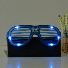 厂家直销百叶窗冷光眼镜 led发光眼镜红蓝绿白发光眼镜节庆用品