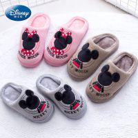 迪士尼冬季儿童棉拖鞋包跟居家保暖防滑中童男童女童宝宝棉鞋批发