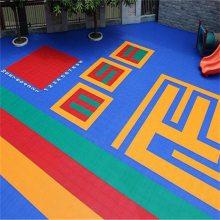 长沙悬浮地板安装 开福区幼儿园悬浮拼装地板跑道 精美图案定制