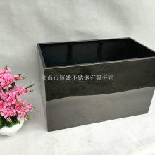 厂家直销不锈钢玫瑰金花盆园艺景观花箱设计制作户外花坛花池树池