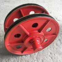 来图定制 吊钩滑轮组 直径430*160 滑轮片 10t 铸钢轮