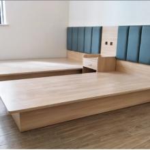 简约公寓家具1.21.8米板式床订做 酒店家具板式电脑桌2门衣柜定制