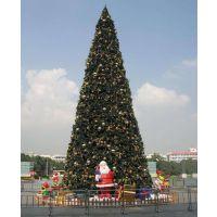 粉色圣诞树15米户外LED粉红色发光圣诞树场景布置 圣诞树大型