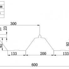金华市彩钢厂家供应YX92-300-600型屋面组合彩钢瓦