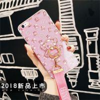 厂家直销iPhonex手机壳闪粉水钻卡通创意个性tpu苹果8plus保护套