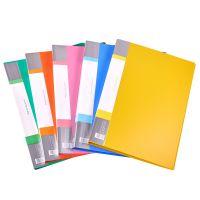 厂家直销红杰6601单夹文件夹 学生办公用品A4炫彩文件夹资料册