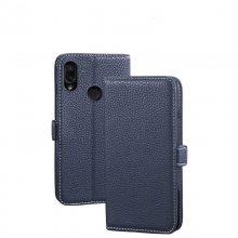Redmi Note7荔枝纹钱包式手机保护套红米7插卡翻盖手机套多功能翻盖皮套